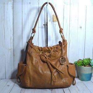 Michael kors Leather Drawstring Satchel Bag